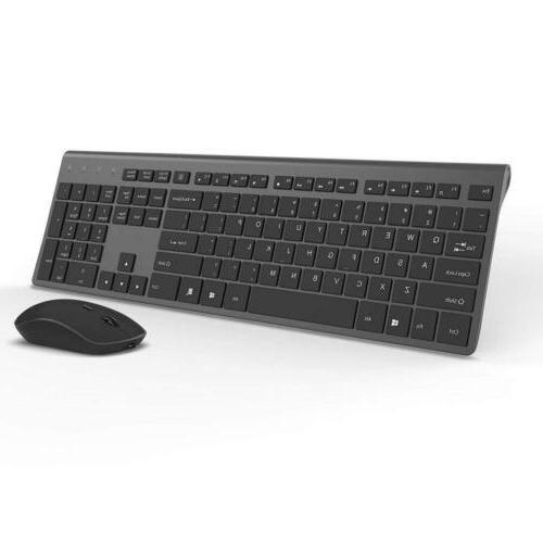 Wireless Keyboard Mouse Gray