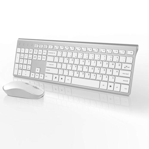 wireless keyboard and mouse combo rechargeable wireless