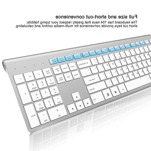 Wireless Keyboard and Mouse Combo-J Rechargeable Keyboard