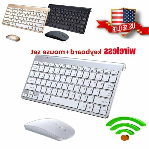 wireless keyboard and mouse combo set 2