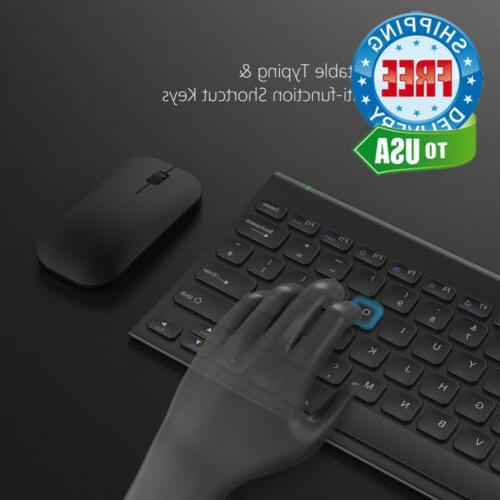 Wireless Keyboard and Combo, Black, No