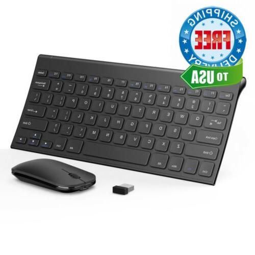 wireless keyboard and mouse combo ultra compact