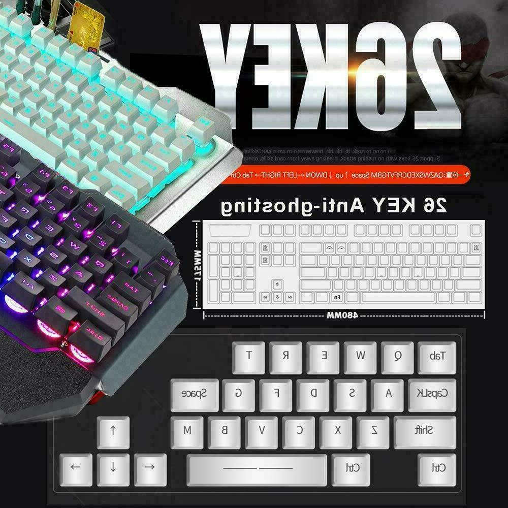 Wireless Keyboard and Rainbow LED Backlit Rechargeable for