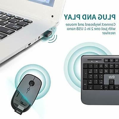 Wireless Keyboard UHURU USB Full-Sized Keyboard and