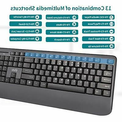 Wireless Keyboard UHURU 2.4GHz USB Keyboard and