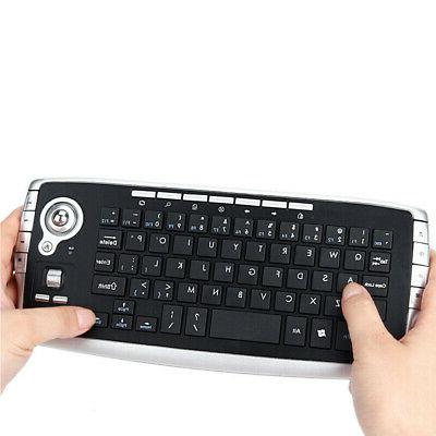 2 4ghz wireless keyboard with trackball mouse