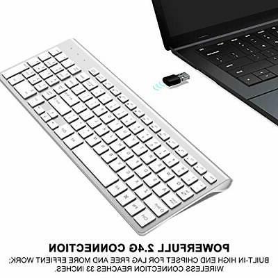 Wireless Keyboard, J JOYACCESS 2.4G Slim and Compact Wireless
