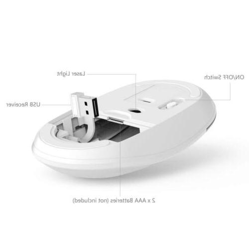 Wireless Keyboard Mouse, Jelly Comb Full Rechargeable...
