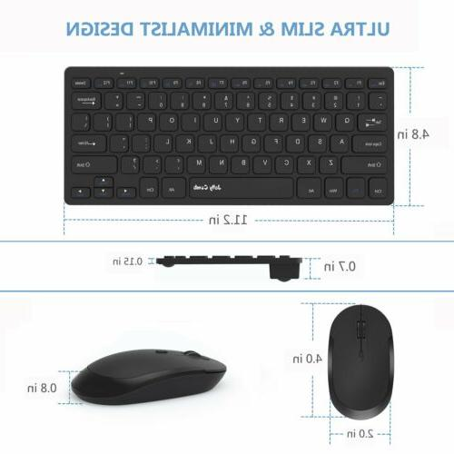 Jelly 2.4GHz Thin Portable Small Wireless Keyboard...