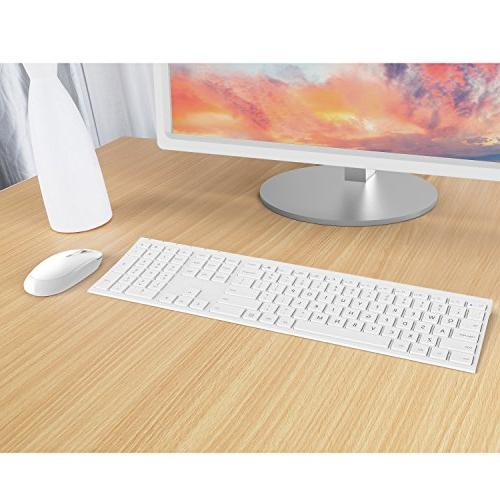 Wireless Jelly Comb KUS015 2.4GHz Ultra Slim Full Size Wireless and Mouse Combo for Laptop, Notebook,
