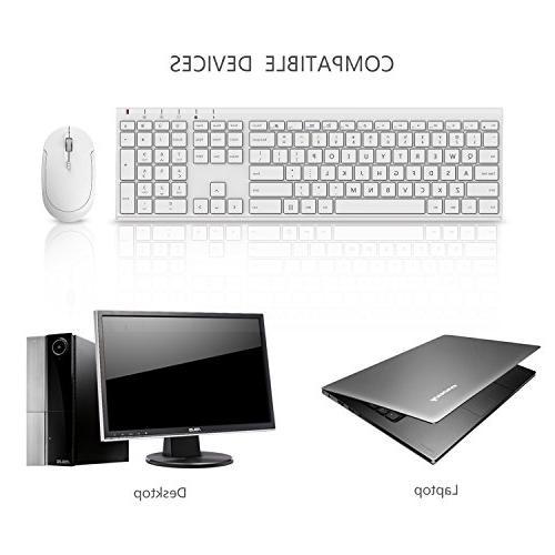 Wireless Comb KUS015 Ultra Slim Full Size Wireless Combo for Notebook, PC, Desktop, Computer