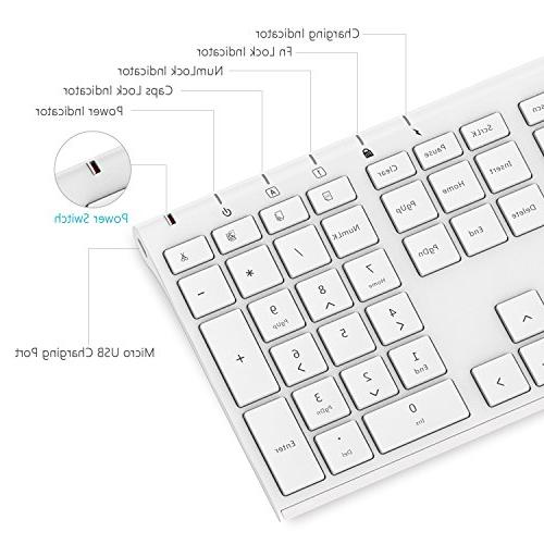 Wireless Mouse, Jelly Comb KUS015 2.4GHz Ultra Slim Wireless Keyboard Combo Windows, Laptop, Notebook,