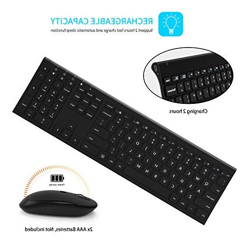 Vive Comb Wireless Keyboard and Mouse Nano Receiver Windows, Laptop,