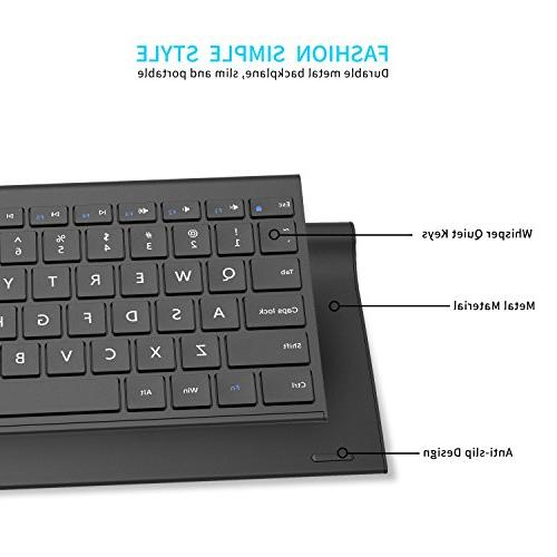 Vive Keyboard and Mouse, Compact Whisper-Quiet Full-Size Nano Receiver for Windows,