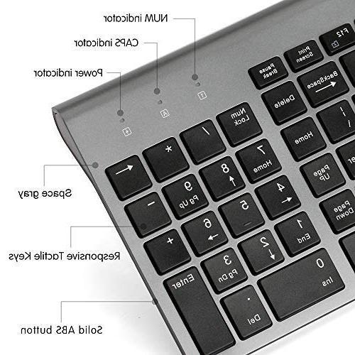 Wireless Full Keyboard Mouse,Sleek DPI for PC,Desktop,Computer, Windows Black and