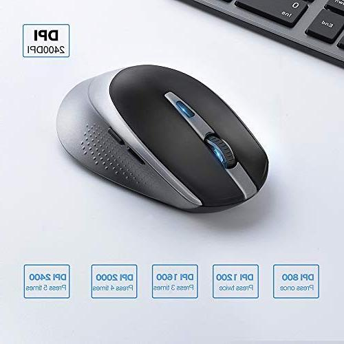 Wireless Full Size Keyboard Mouse,Sleek and DPI for PC,Desktop,Computer, Laptop, Windows XP/Vista/7/8/10 JOYACCESS- Black and