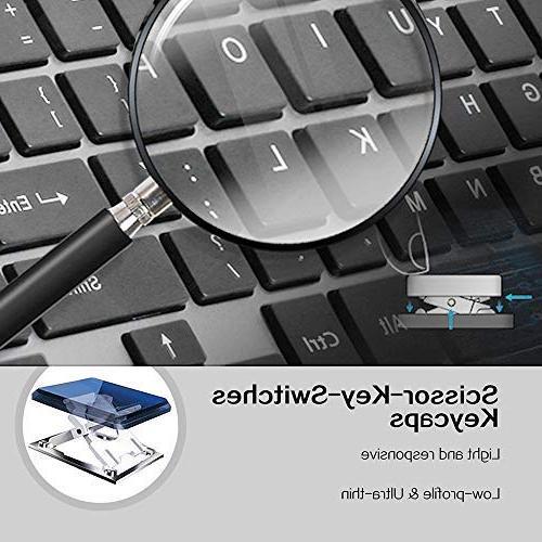 Wireless Full Size Keyboard and Precision DPI for PC,Desktop,Computer, Windows XP/Vista/7/8/10