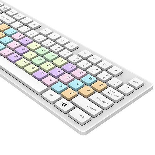 Wireless Keyboard and Mouse Combo Fashion Power-saving Combo PC Mac