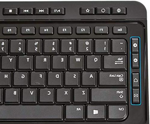 AmazonBasics Wireless Keyboard Mouse Size -