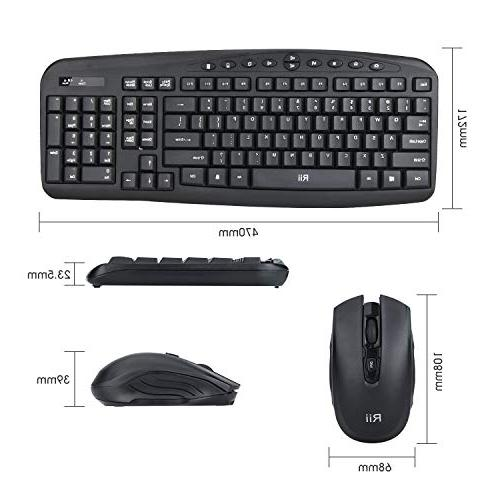 Wireless Combo — Mouse,with 10 Hot Keys for Laptop Smart 7/8/10-