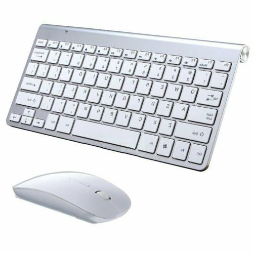 Waterproof 2.4G Wireless Keyboard Mouse w/ USB Receiver For