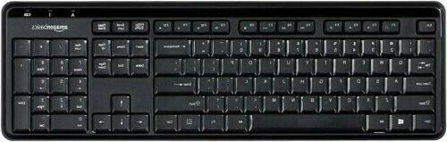 wireless keyboard quiet and compact black new