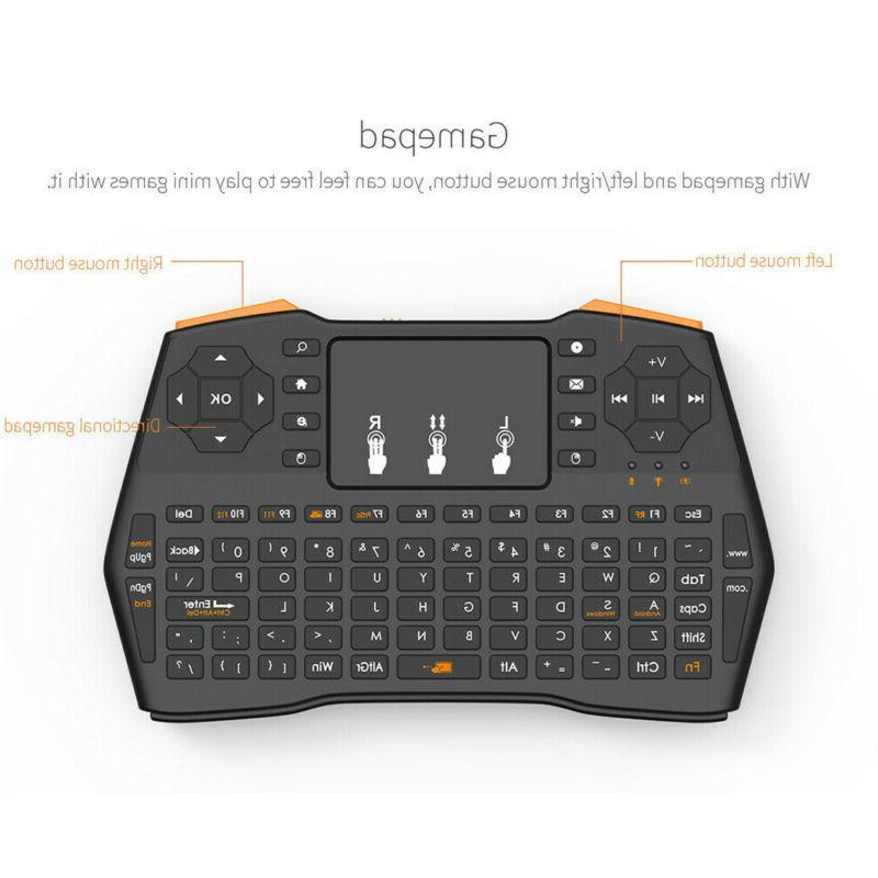 Wireless Keyboard Touchpad Mouse Combo PC Smart su