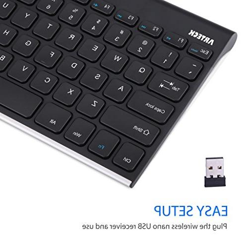 Arteck Stainless Steel Keyboard and in Rechargeable