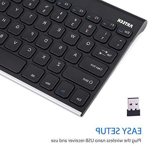 Arteck Wireless Keyboard TV and 7 /