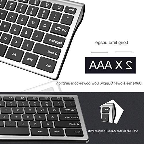 Vitalitim Wireless Slim 2.4GHz Connection, 110 Keyboards,Compatible