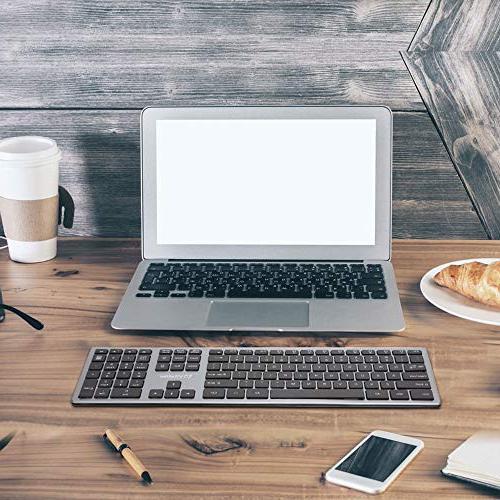 Vitalitim Wireless Keyboard Slim Connection, Key Keyboards,Compatible
