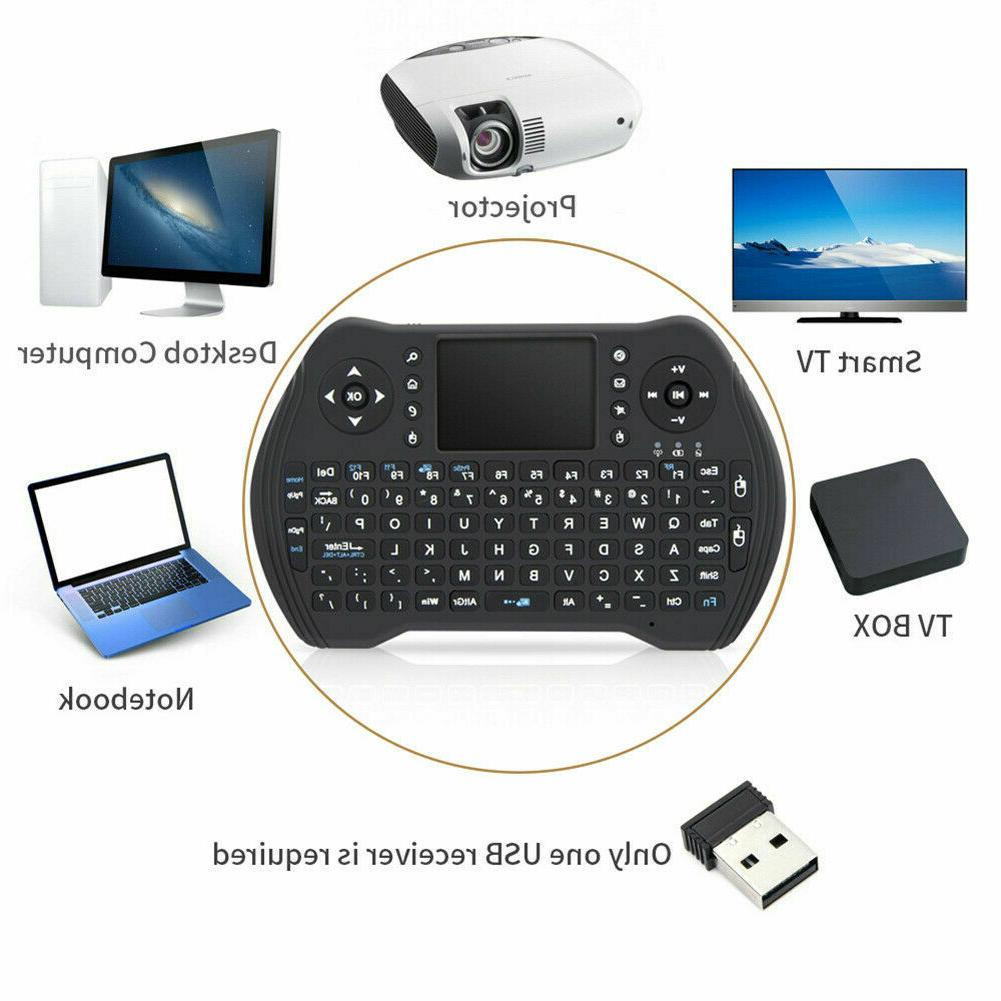 Wireless Mini Keyboard Remote Control Touchpad Android TV 2.4GHz