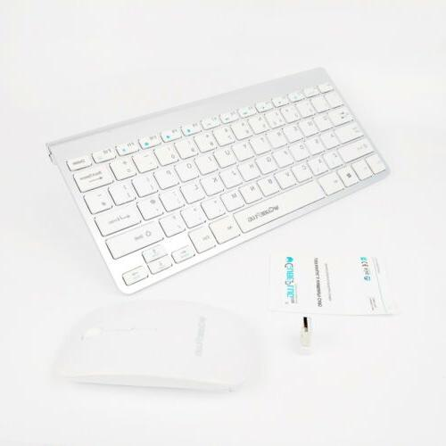 WIRELESS 2.4GHZ MINI Mouse AND Keyboard COMBO APPLE iMAC MAC