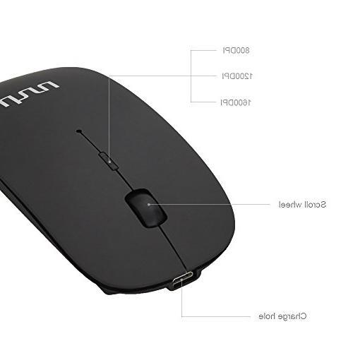 UHURU with Adjustable DPI , 2.4G USB Slim Silent Mice for Laptop,