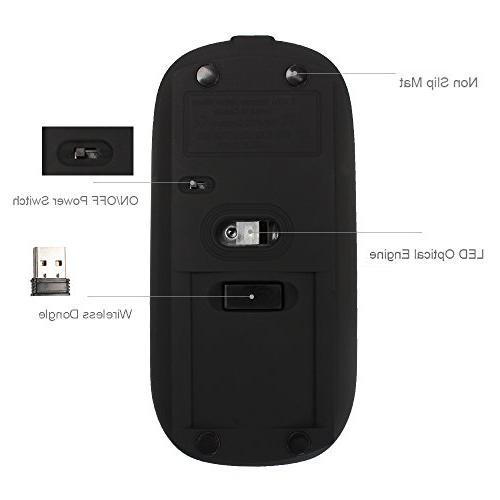 UHURU with 3 Adjustable , 2.4G Silent Portable Mice for Mac, Tablet