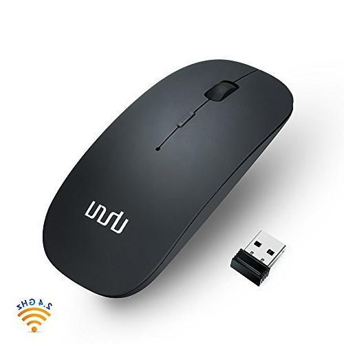 UHURU Rechargeable with 3 , USB Silent Portable Mice Mac,