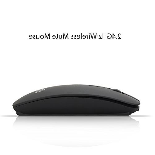 UHURU Wireless Mouse with 3 Silent Portable Computer Mice Laptop, Mac, Tablet