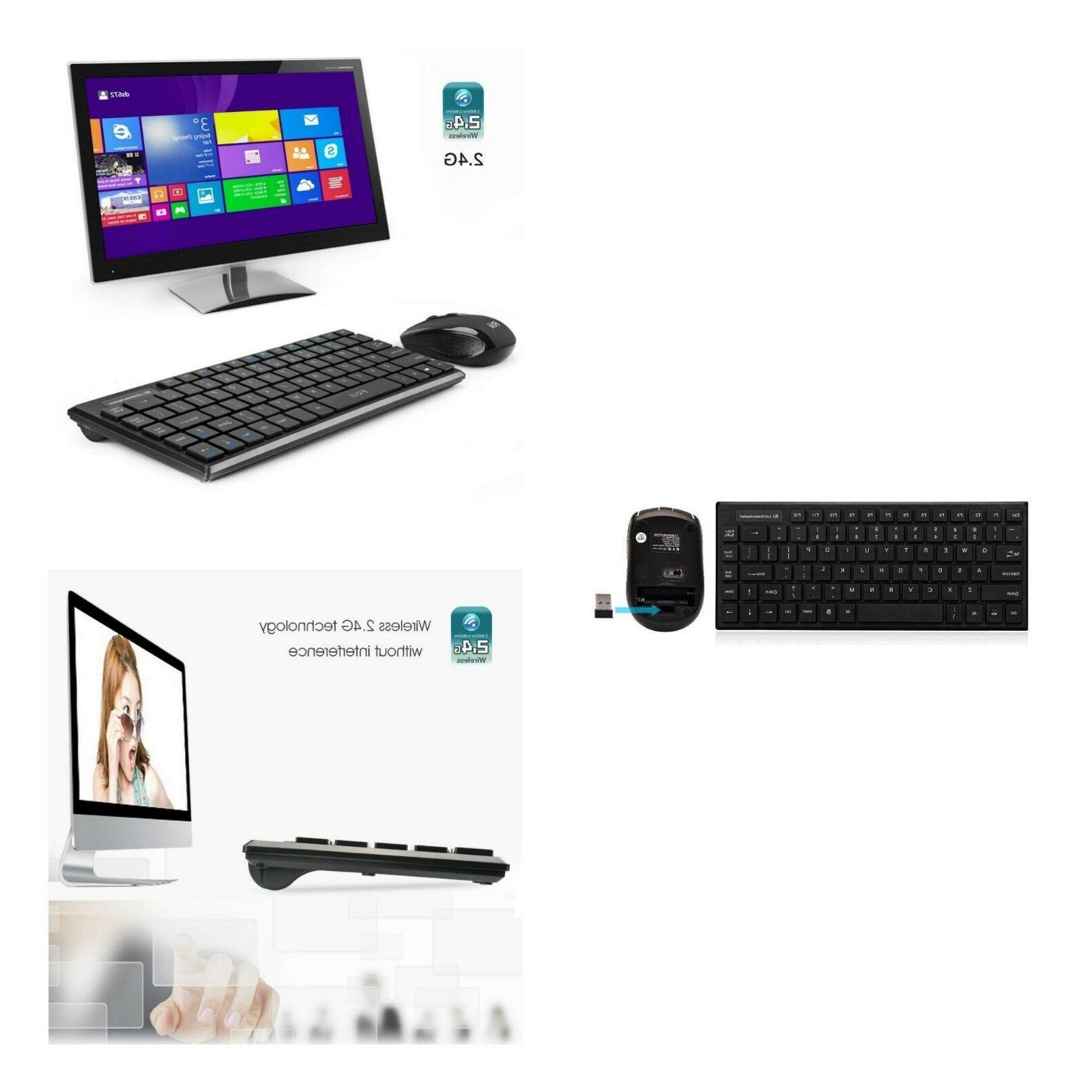 Wireless Multimedia Keyboard And Mouse Combo USB Computer De