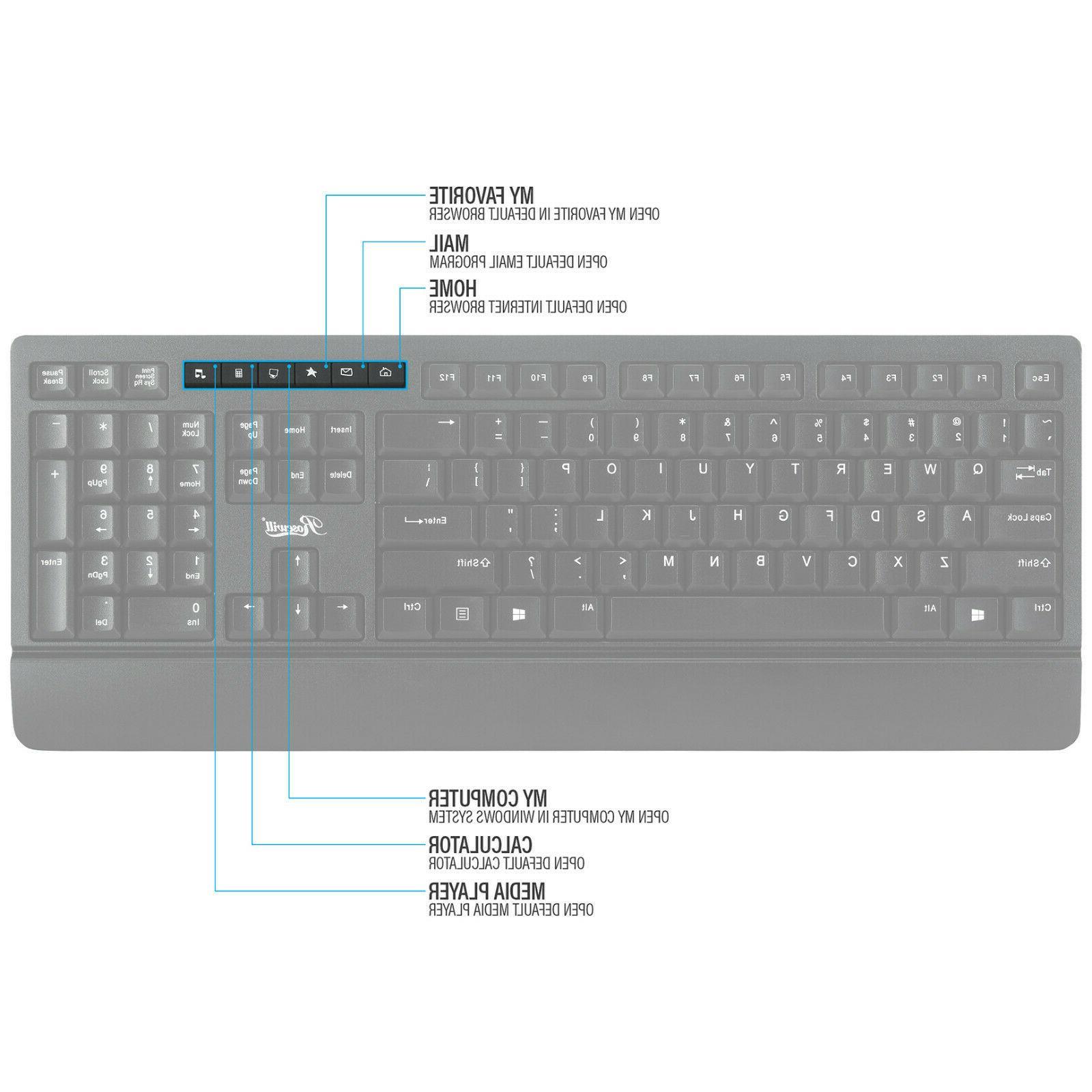 Wireless Keyboard Combo, Life, Slim Quiet Ergonomic