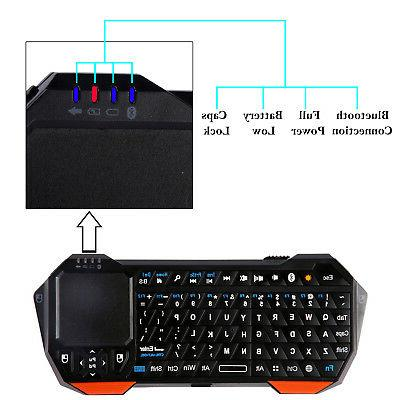 Wireless Portable Bluetooth Keyboard Touchpad Windows Android