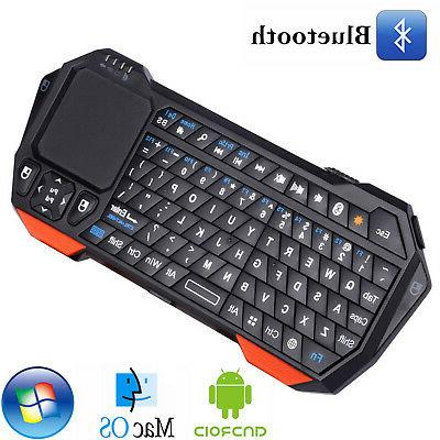 wireless portable mini bluetooth keyboard with touchpad