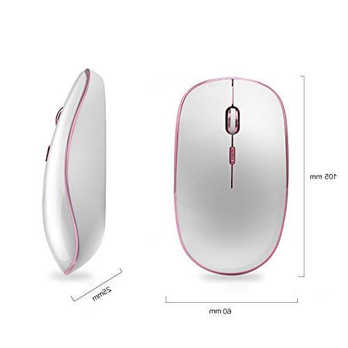 JOYACCESS Click Cute Optical Precision DPI 5 Notebook, MacBook-White +