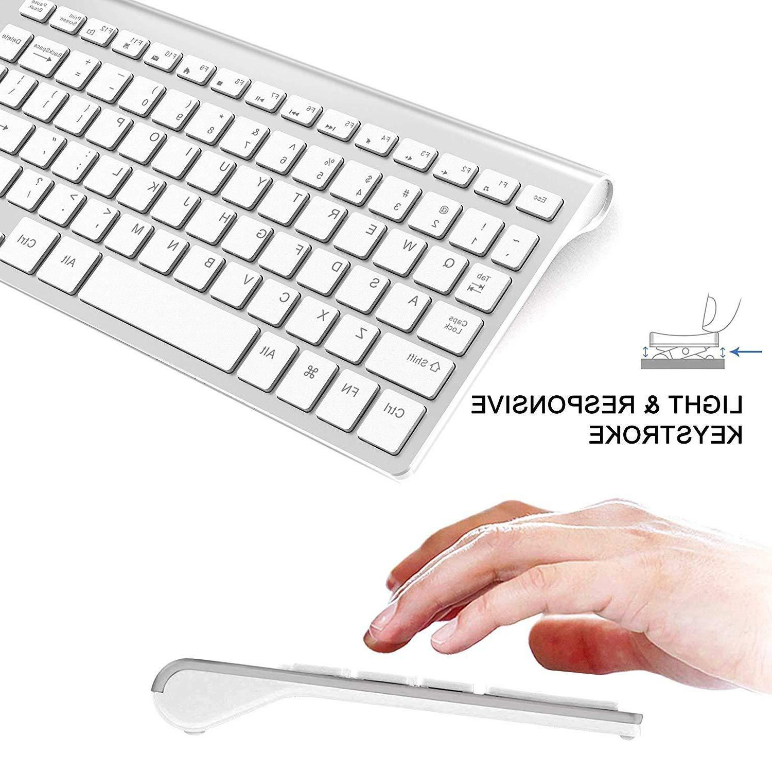 Wireless Slim Keyboard And Mouse Combo Compact Computer