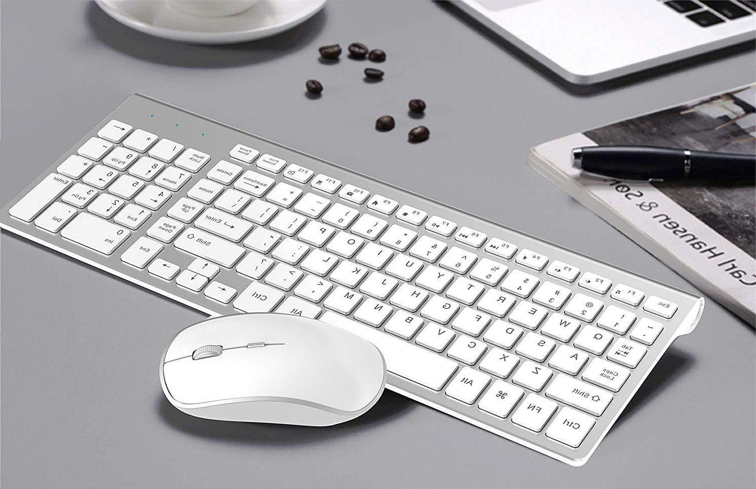 Wireless Slim Keyboard And Mouse Computer Tablet Accessories