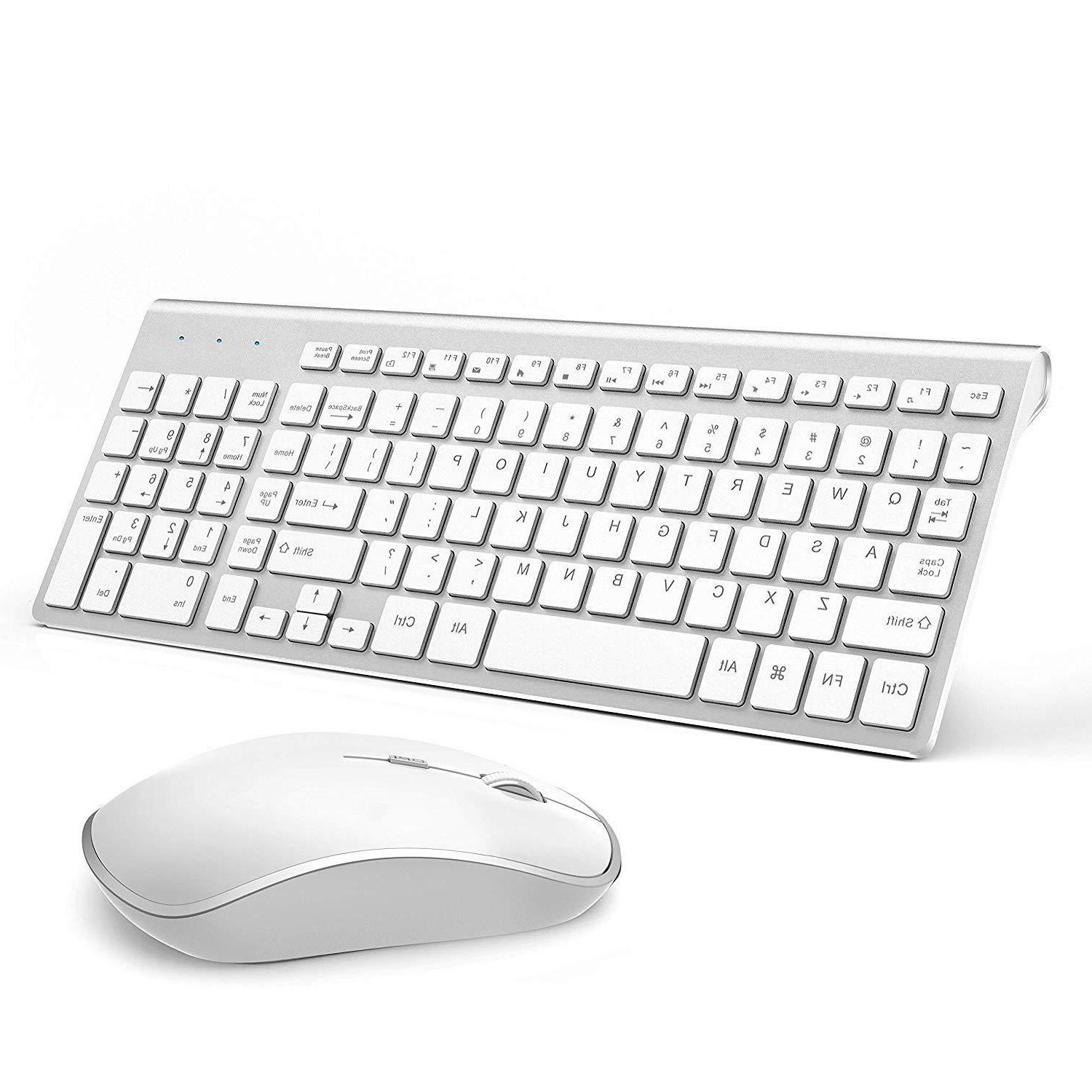 Wireless Keyboard Bundle Set Mac Full Size 2.4G
