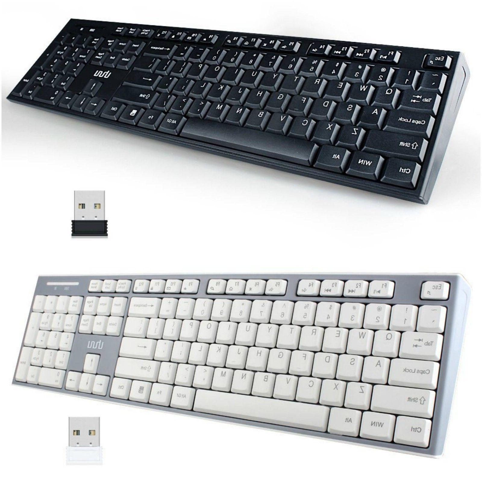 Wireless Slim Keyboard For PC Smart TV Laptop Fast Type Auto