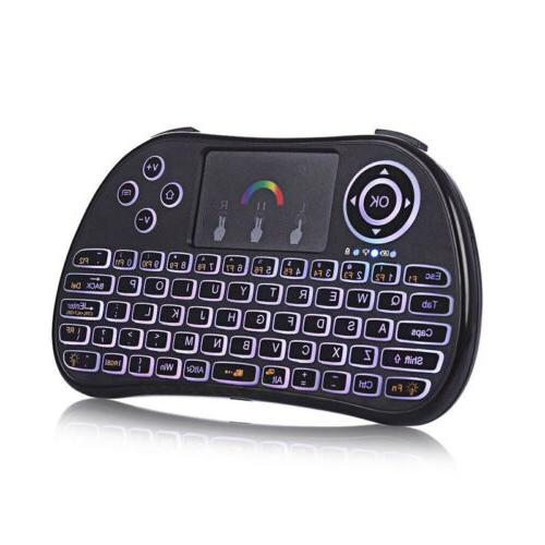 Wireless Touch Mini Keyboard 2.4G Multi Point with RGB Backl