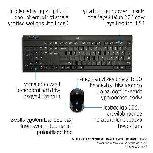 HP 2.4GHz Keyboard and Mouse