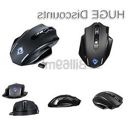 EagleTec MG001 Ergonomic Wireless Gaming Mouse, LED Backlit