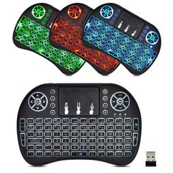 Mini 2.4G Wireless Backlit Keyboard With Touchpad For PC And